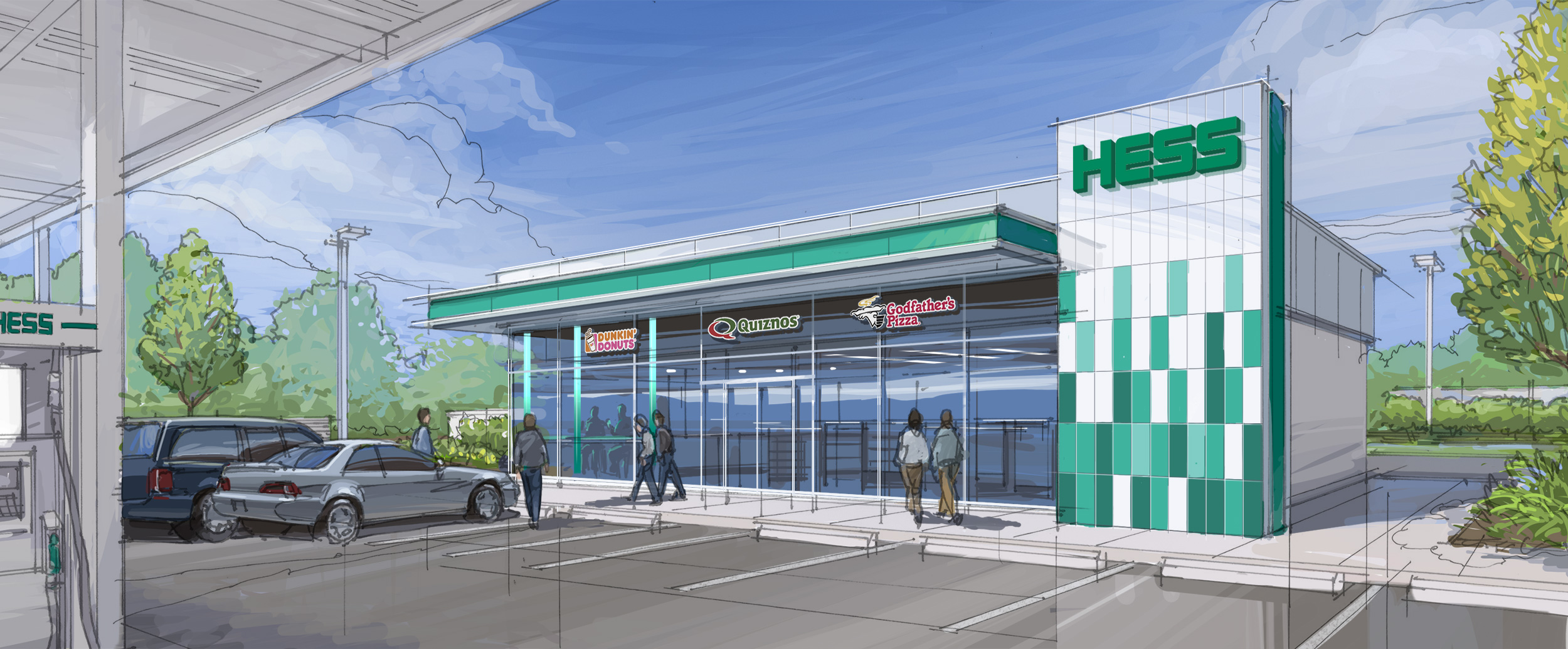 Dave pinter hess prototype convenience store architecture for Convenience store exterior design