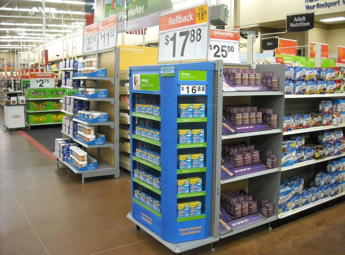 DAVE PINTER   Walmart- Pain Relief Endcap