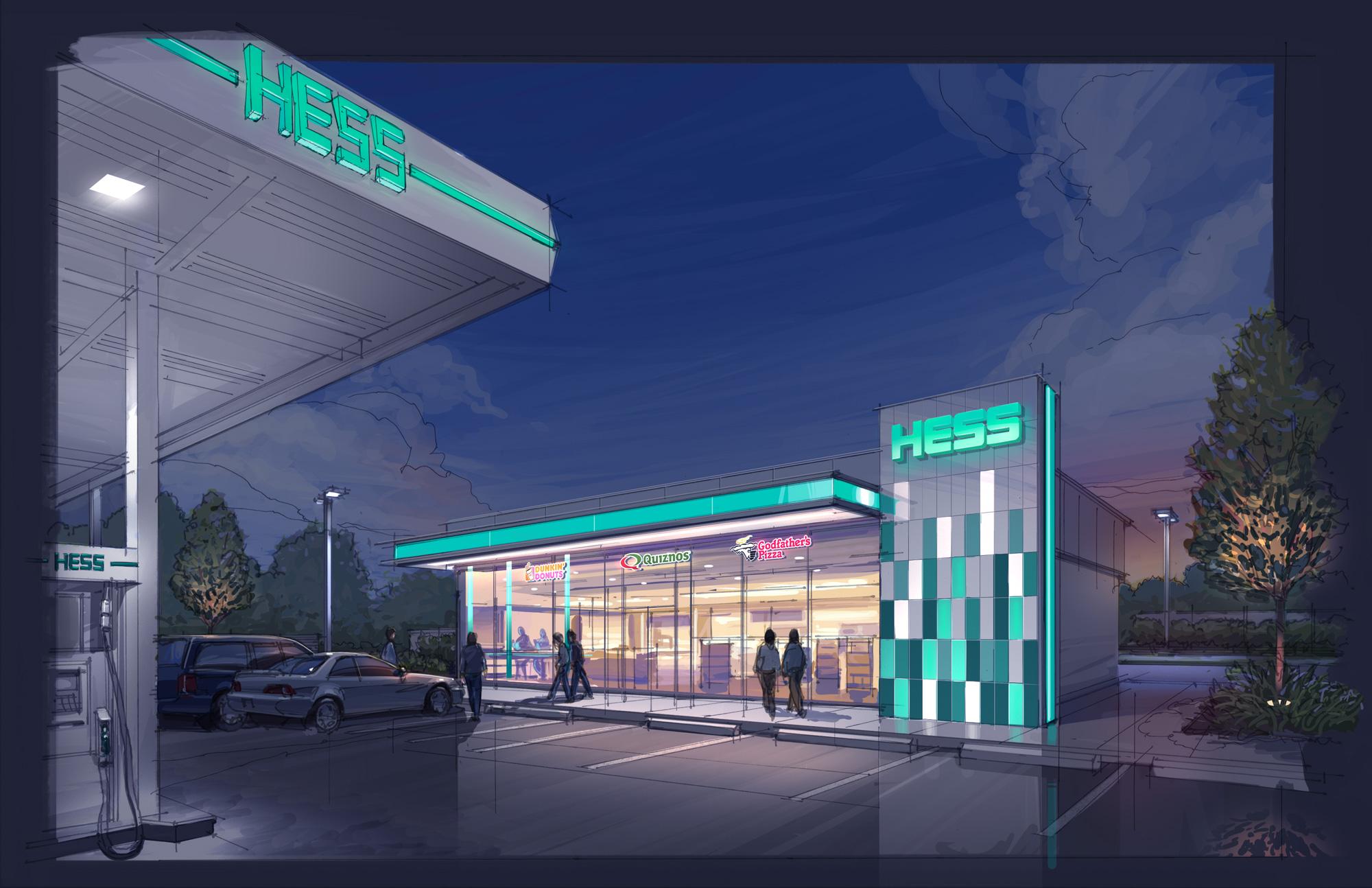 hess  u2013 prototype convenience store architecture  u2013 dave pinter